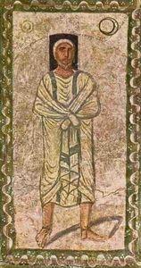 Abraham (Fresko in der Synagoge von Dura Europos; 3. Jh.