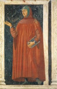 Bild: https://upload.wikimedia.org/wikipedia/commons/8/8f/Petrarch_by_Bargilla.jpg - Andrea del Castagno, gemeinfrei, via Wikimedia Commons