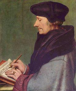 Porträt des Erasmus von Hans Holbein dem Jüngeren (1523) (c) public domain, wikimedia commons